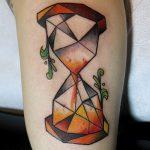 фото тату песочные часы от 21.10.2017 №136 - tattoo hourglass - tatufoto.com