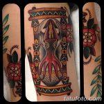 фото тату песочные часы от 21.10.2017 №144 - tattoo hourglass - tatufoto.com