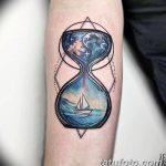 фото тату песочные часы от 21.10.2017 №151 - tattoo hourglass - tatufoto.com