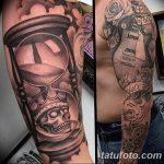 фото тату песочные часы от 21.10.2017 №165 - tattoo hourglass - tatufoto.com