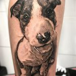 фото тату питбультерьер от 25.10.2017 №011 - tattoo pit bull terrier - tatufoto.com