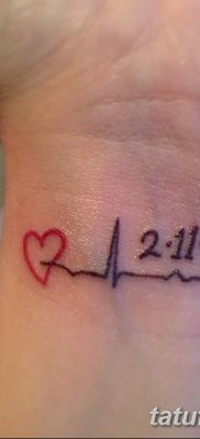 фото тату пульс от 21.10.2017 №072 – tattoo heart rate – tatufoto.com