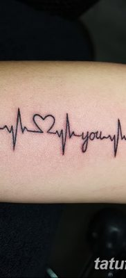 фото тату пульс от 21.10.2017 №097 – tattoo heart rate – tatufoto.com