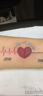 фото тату пульс от 21.10.2017 №099 – tattoo heart rate – tatufoto.com