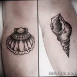 фото тату раковина от 07.10.2017 №006 - tattoo shell - tatufoto.com
