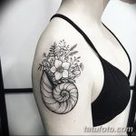 фото тату раковина от 07.10.2017 №010 - tattoo shell - tatufoto.com