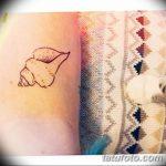фото тату раковина от 07.10.2017 №019 - tattoo shell - tatufoto.com