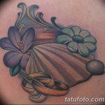фото тату раковина от 07.10.2017 №023 - tattoo shell - tatufoto.com