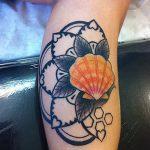 фото тату раковина от 07.10.2017 №025 - tattoo shell - tatufoto.com