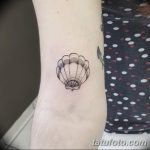 фото тату раковина от 07.10.2017 №028 - tattoo shell - tatufoto.com