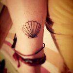 фото тату раковина от 07.10.2017 №034 - tattoo shell - tatufoto.com