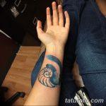 фото тату раковина от 07.10.2017 №045 - tattoo shell - tatufoto.com