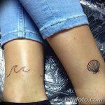 фото тату раковина от 07.10.2017 №057 - tattoo shell - tatufoto.com