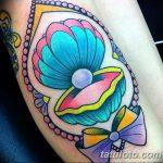 фото тату раковина от 07.10.2017 №059 - tattoo shell - tatufoto.com
