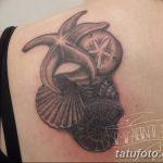 фото тату раковина от 07.10.2017 №063 - tattoo shell - tatufoto.com