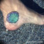 фото тату раковина от 07.10.2017 №065 - tattoo shell - tatufoto.com