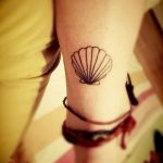 фото тату раковина от 07.10.2017 №066 - tattoo shell - tatufoto.com