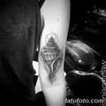 фото тату раковина от 07.10.2017 №074 - tattoo shell - tatufoto.com
