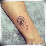 фото тату раковина от 07.10.2017 №077 - tattoo shell - tatufoto.com