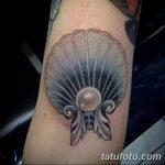 фото тату раковина от 07.10.2017 №078 - tattoo shell - tatufoto.com