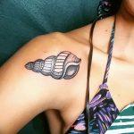 фото тату раковина от 07.10.2017 №079 - tattoo shell - tatufoto.com