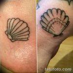 фото тату раковина от 07.10.2017 №080 - tattoo shell - tatufoto.com