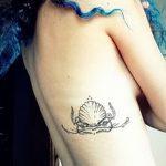 фото тату раковина от 07.10.2017 №084 - tattoo shell - tatufoto.com