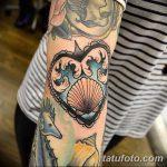 фото тату раковина от 07.10.2017 №088 - tattoo shell - tatufoto.com