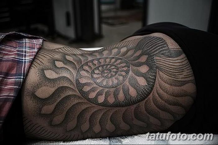 фото тату раковина от 07.10.2017 №120 - tattoo shell - tatufoto.com