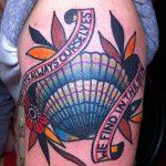 фото тату раковина от 07.10.2017 №123 - tattoo shell - tatufoto.com