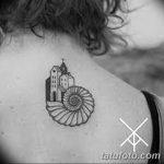 фото тату раковина от 07.10.2017 №179 - tattoo shell - tatufoto.com