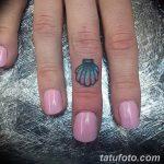 фото тату раковина от 07.10.2017 №189 - tattoo shell - tatufoto.com