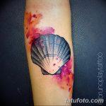 фото тату раковина от 07.10.2017 №190 - tattoo shell - tatufoto.com