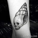 фото тату раковина от 07.10.2017 №207 - tattoo shell - tatufoto.com