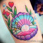 фото тату раковина от 07.10.2017 №210 - tattoo shell - tatufoto.com