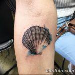 фото тату раковина от 07.10.2017 №212 - tattoo shell - tatufoto.com