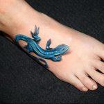 фото тату саламандра от 07.10.2017 №018 - tattoo salamander - tatufoto.com
