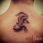 фото тату саламандра от 07.10.2017 №035 - tattoo salamander - tatufoto.com