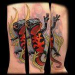 фото тату саламандра от 07.10.2017 №068 - tattoo salamander - tatufoto.com