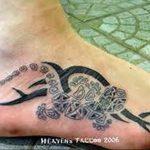 фото тату саламандра от 07.10.2017 №078 - tattoo salamander - tatufoto.com