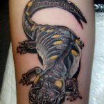фото тату саламандра от 07.10.2017 №117 - tattoo salamander - tatufoto.com