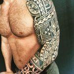 фото тату самоа от 10.10.2017 №011 - Samoan tattoo - tatufoto.com