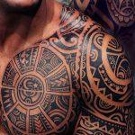 фото тату самоа от 10.10.2017 №030 - Samoan tattoo - tatufoto.com