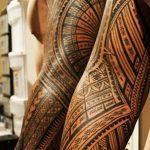 фото тату самоа от 10.10.2017 №042 - Samoan tattoo - tatufoto.com