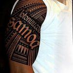 фото тату самоа от 10.10.2017 №066 - Samoan tattoo - tatufoto.com