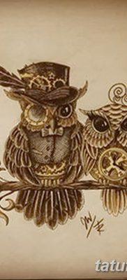 фото тату сова с ключом от 18.10.2017 №010 – owl tattoo with key – tatufoto.com