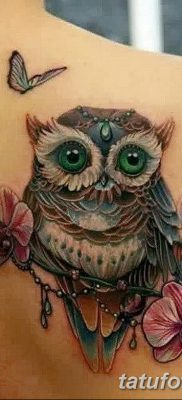 фото тату сова с ключом от 18.10.2017 №014 – owl tattoo with key – tatufoto.com