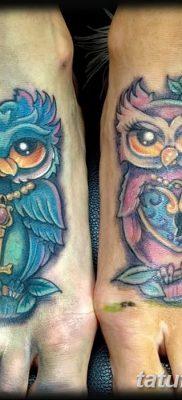 фото тату сова с ключом от 18.10.2017 №022 – owl tattoo with key – tatufoto.com