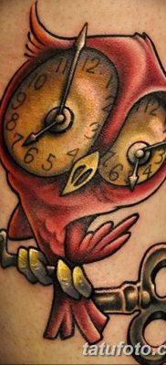 фото тату сова с ключом от 18.10.2017 №025 – owl tattoo with key – tatufoto.com