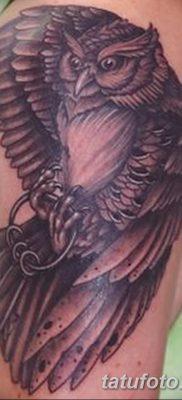 фото тату сова с ключом от 18.10.2017 №037 – owl tattoo with key – tatufoto.com